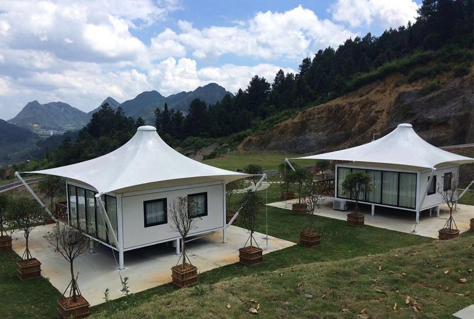 单峰撑杆酒店帐篷-高端住宿帐篷生产设计