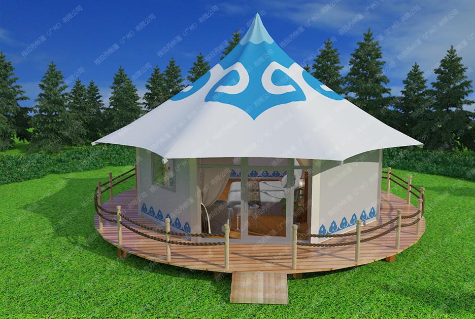 蒙古包风格酒店帐篷-蒙古西藏酒店帐