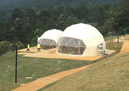 球形星空酒店帐篷-西山泉房车露营基地球形酒店