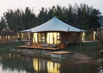四边形60平方米单峰套房帐篷酒店
