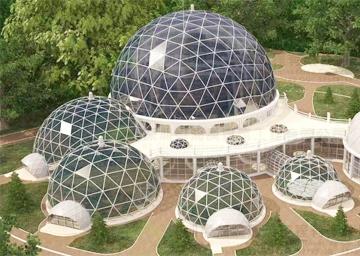 黑龙江穹顶玻璃建筑-穹顶钢结构