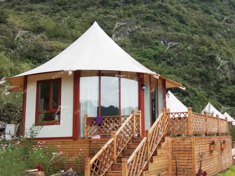 野奢帐篷酒店-八边形酒店帐篷设计
