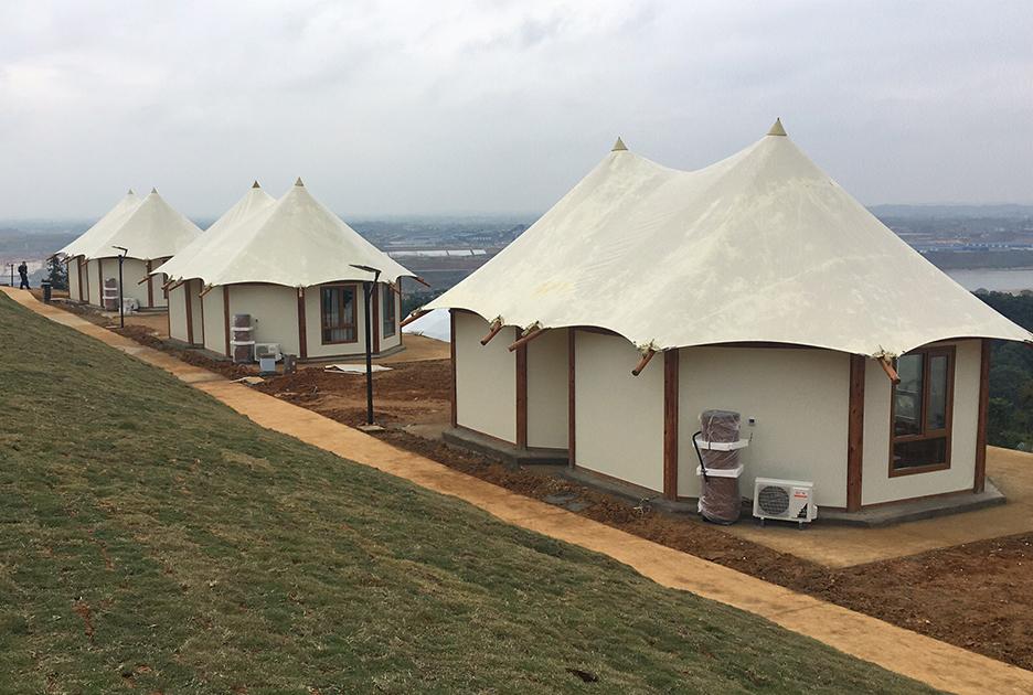 双峰套房帐篷酒店-景区营地酒店帐篷