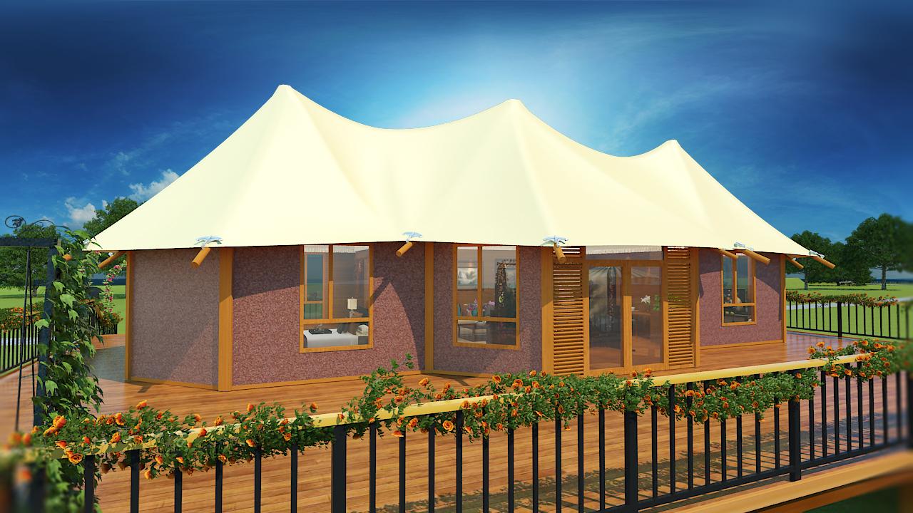 三峰旅游景区酒店帐篷-三峰营地帐篷