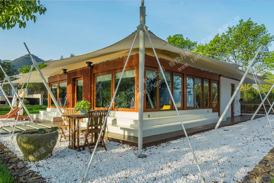 张拉膜结构帐篷酒店
