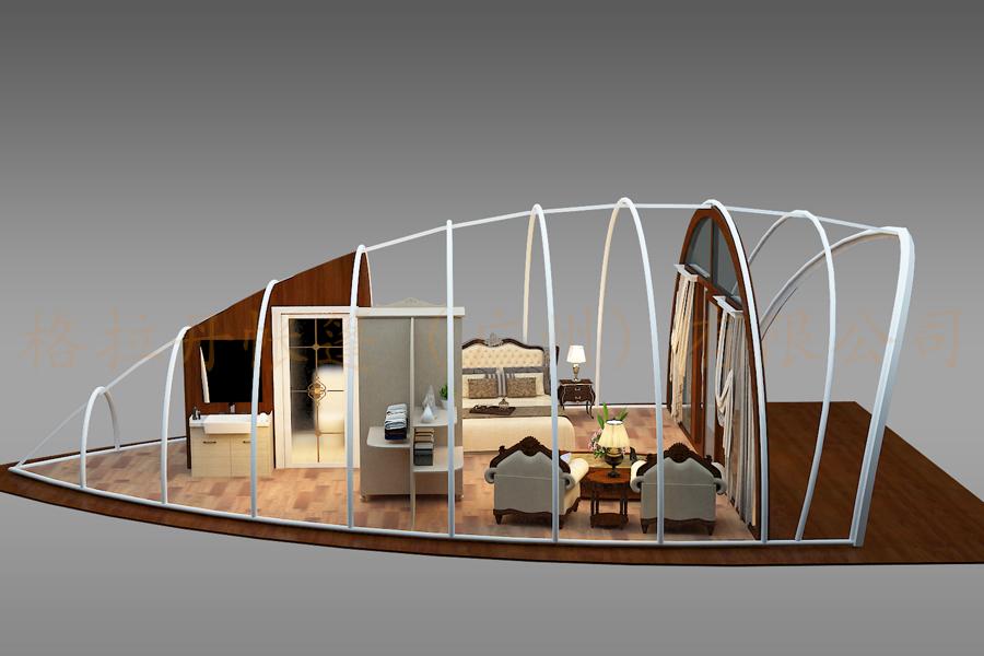 贝壳酒店帐篷