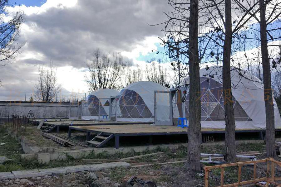 美丽洱海搭建帐篷酒店
