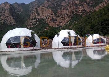 内蒙古球形帐篷 九龙湾度假景区半圆顶篷房