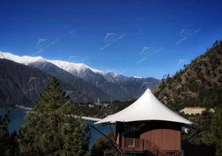 吉林西藏318国道多布湖畔的绝美帐篷