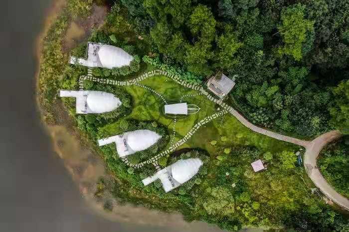 吉林宜春浪漫海岸之贝壳帐篷